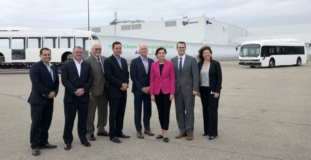 Iowa Governor Kim Reynolds joins TPI Proterra DART and GE for factory celebration