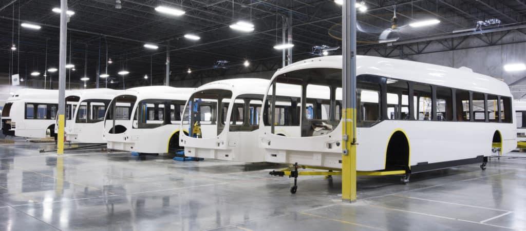 Proterra carbon fiber reinforced bus bodies